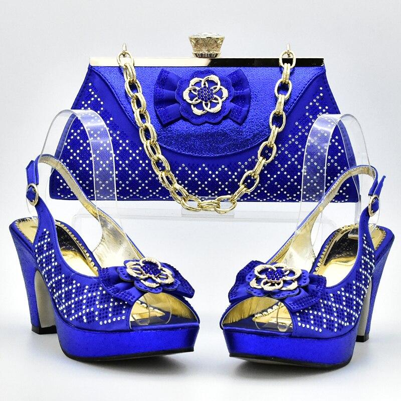 Royal Or Les Italie Strass Chaussures Et fuchsia Italiennes Couleur Sac Ensemble red Le Décoré Dames pourpre Mariage Bleu Assortis Pour Avec Sacs bleu pwUdp4