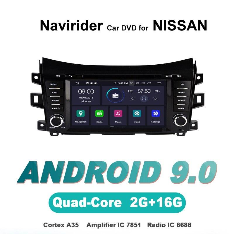 OS 9.0 Jogador Android Carro Para NISSAN NAVARA NP300 Navirider stereo radio navegação gps BT TDA7851 Sistema De som Do Amplificador