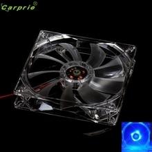 Adroit 8CM Blue LED Light CPU Cooling Fan Computer PC Clear Case Quad Heatsink 4pin MAR24 drop shipping