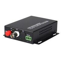 1080P HD video AHD CVI TVI Fiber optical converter, 1 CH video fiber optic transmitter, single mode single fiber 20KM