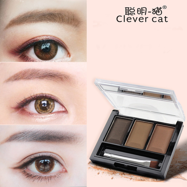 Cake Eye Brow Powder Liner Shadow Makeup Set Tint Eyebrow Wax Paint