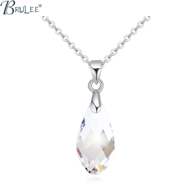 2017 New Fashion crystal Swarovski Elements Necklace Water Drop luxury  Exaggerated pendants women Crystal jewelry Wholesale c658fd773