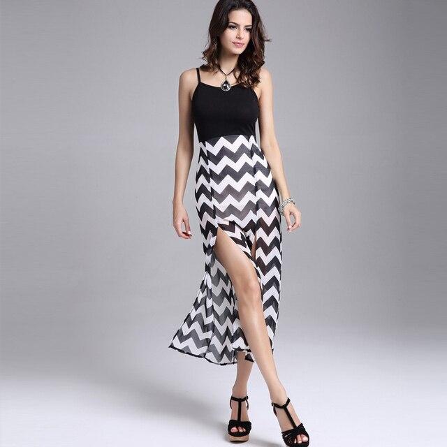 a738d21d9 Vestidos fiesta de verano mujeres 2016 nueva moda negro