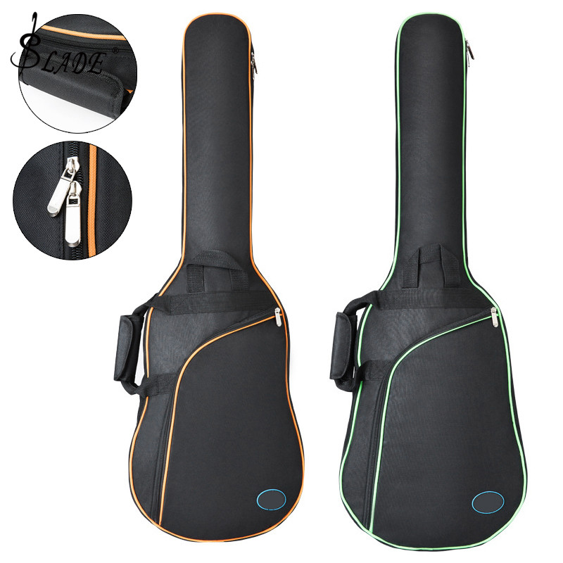 101 X 34 X 5cm Oxford Fabric Electric Guitar Case Colorful Edge Gig Bag Double Straps Pad 8mm Cotton Thickening Soft Cover