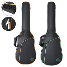Oxford Fabric Electric Guitar Case Colorful Edge Gig Bag Double Straps Pad 8mm Cotton Thickening Soft Cover