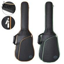 Oxford Stoff Elektrische Gitarre Fall Bunte Rand Gig Bag Doppel Straps Pad 8mm Baumwolle Verdickung Weiche Abdeckung