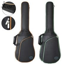 Tkanina Oxford elektryczny pokrowiec na gitarę z kolorową krawędzią torba koncertowa podwójne paski Pad 8mm pogrubione bawełną miękkie etui