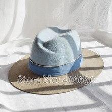 Зимняя модная шерстяная фетровая шляпа с широкими полями для женщин Chapeu Панама шляпа женское платье женские церковные Шляпы PWFE056