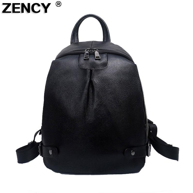 100% QualitäT Zency 2019 Reale Echtes Leder Neue Ankunft Mode Designer Luxus Berühmte Marken Frauen Rucksack Weichen Rindsleder Schule Ipad Tasche Up-To-Date-Styling