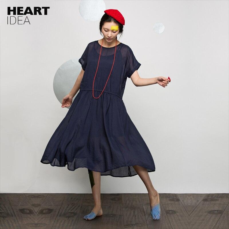 LYNETTE'S CHINOISERIE eté nouveauté lin ample bref elégant robe complète en lin robe pour femme