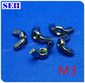 1000pcs M3 Nut 304 Stainless Steel Metric Thread Nuts Silvery White Butterfly Nutsert