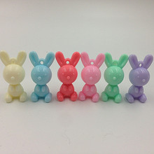 Buy cute plastic charms and get free shipping on aliexpress 40mm 30pcs mix colors acrylic plastic sweet cute rabbit mozeypictures Choice Image