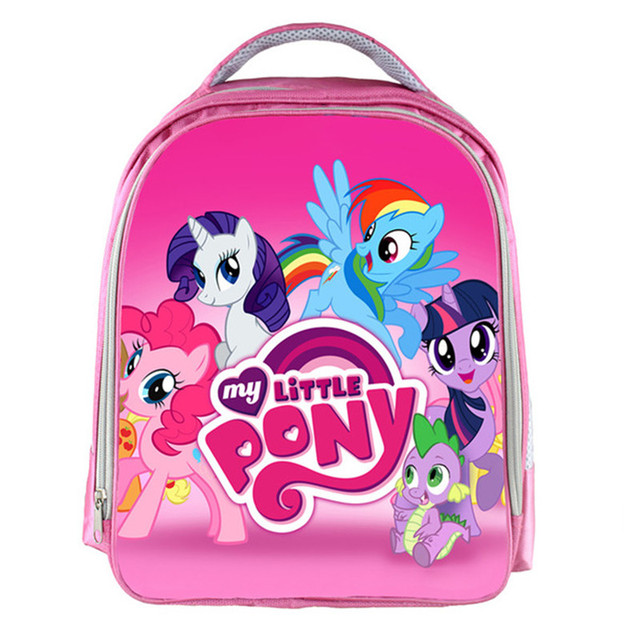 Monster School/ My Little Pony/ Super Wings Pink Cartoon School Bags For  Teenagers Boys