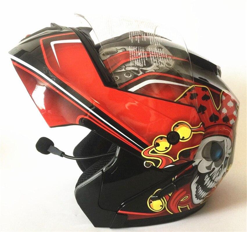 Unisex-adult full-face-helmet-style Bluetooth Integrated Motorcycle Helmet With Graphic Gloss Black XX-Large 1000m motorcycle helmet intercom bt s2 waterproof for wired wireless helmet