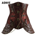 Sexy Brown Steampunk Corset Women's Bustiers & Corsets Goth Underbust Corset Cupless Waist  Corsets and Bustiers