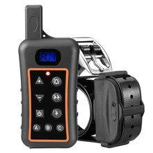 Аккумуляторная ошейник электронные 1200 м дистанционное обучение собаки ошейник Водонепроницаемый Шок Воротник с 3 режимов обучения для собак