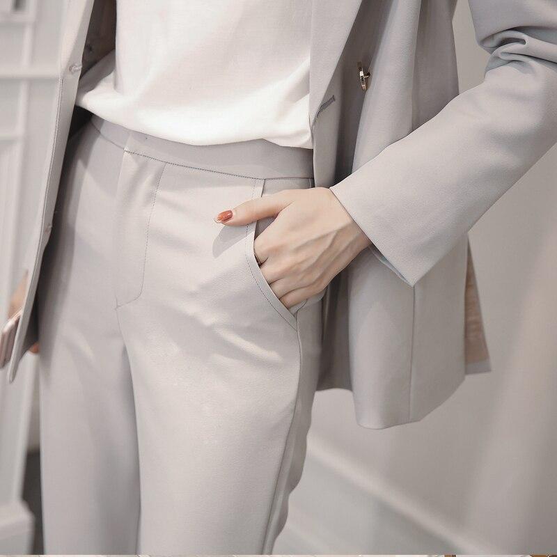Noir Tb18180 Costume Petit Automne Simple Féminin Et Tempérament 2018 Encens Printemps gris Casual Nouvelles Style Veste Dames T4xqz6wxZ
