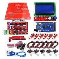 Reprap Ramps 1 4 Kit Mit Mega 2560 r3 + Heatbed mk2b + 12864 LCD Controller + DRV8825 + Mechanische schalter + Kabel Für 3D drucker