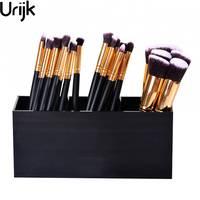 Urijk Acrylic Makeup Organizer Cosmetic Holder Makeup Tools Storage Box Caixa Orangnizer And Brush Container 20x7x8