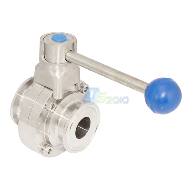 MEGAIRON 1 Pipe OD 25mm Durable SS316 Sanitary Butterfly Valve Ferrule OD 50 5mm Fit 1