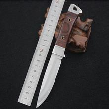 SHNAPIGN Stainless Steel Fixed Knife Hunting Knife Outdoor Tool Camping Small fixed blade Knife Color Wood Handle Knives SH45