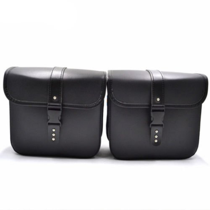 Perfect Use 2PCS Mini Motorcycle PU Leather Saddle Bags Side Storage Tool Pouch