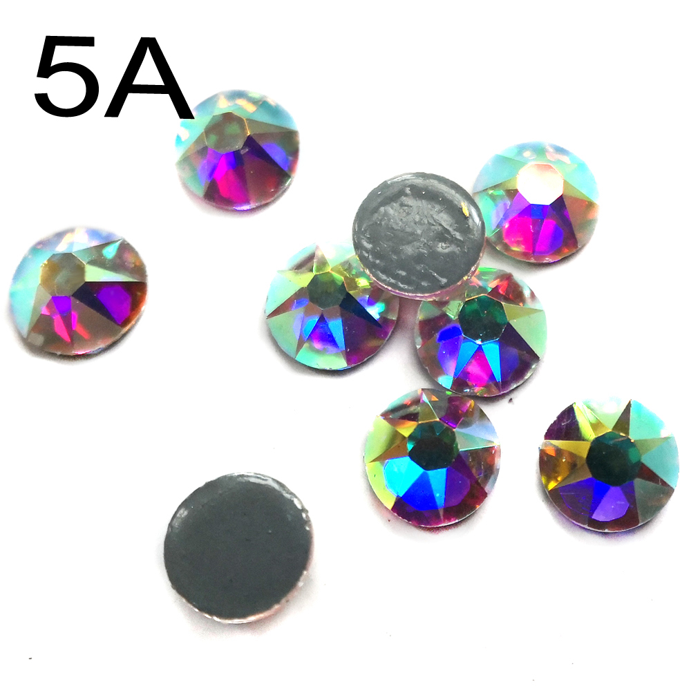 SW 8Big 8Small 2078 flat back hotfix rhinestones ss10 ss16 ss20 SS30 SS34 SS40 crystal ab glue on crystal strass for Clothes in Rhinestones from Home Garden