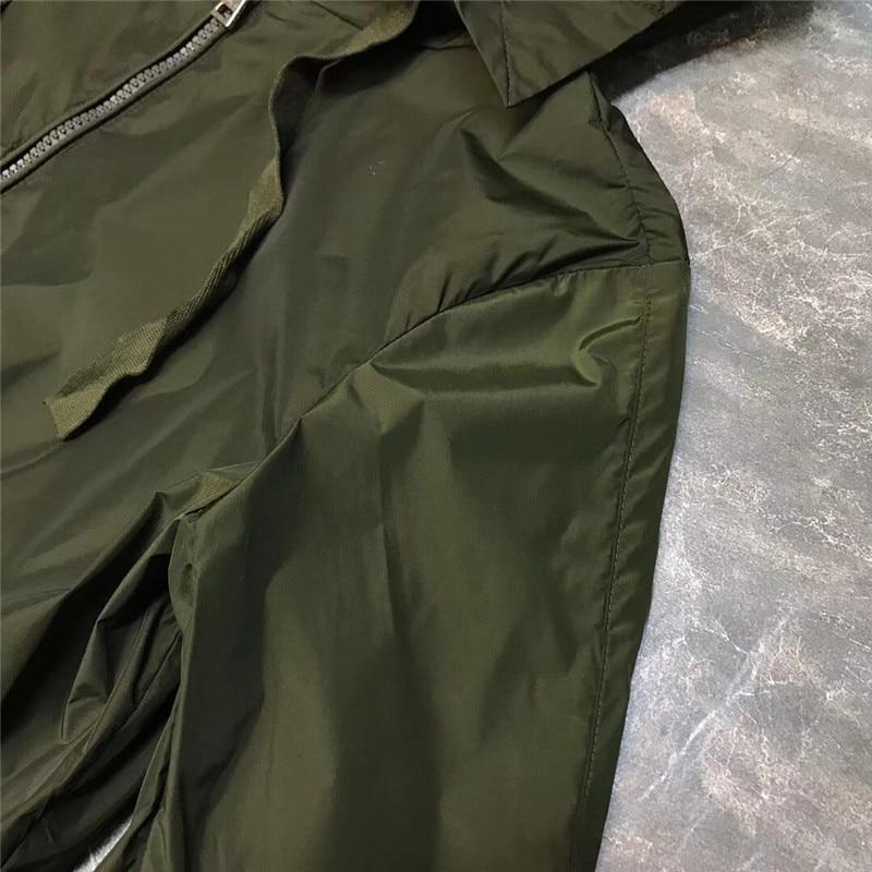 Veste Fermeture Éclair Nouvelle Noir Femmes Pour À Style Longues Bleu Lâche Avec Mode Manteau 2018 vert Manches Occasionnel De d7qP6n