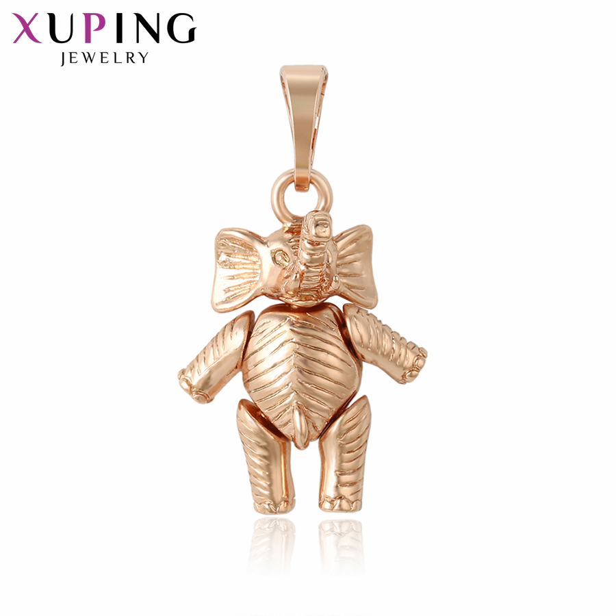 Xuping Newest Luxury Necklace Pendants Rose Gold Color Elephant Shape Fashion Jewelry Christmas Gifts S111,8-33698