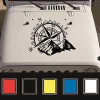 2 Colors 50x60cm Universal Compass Off Road Car Stickers Decals Auto Engine Cover Door Window Car Vinyl Car Accessories
