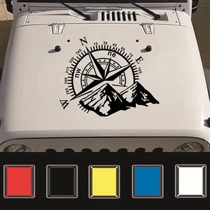Image 3 - 50x60cm Compass Off Road Car Stickers and Decals Auto Engine Cover Door Window Car Vinyl Car Accessories 2 Colors
