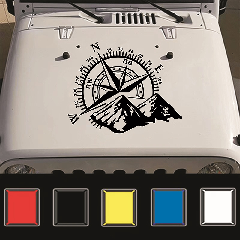 Image 2 - Car Stickers 50x60cm Compass Off Road Car Sticker and Decal Rose Navigate Vinyl Sticker Auto Laptop Car Door and Stickers Hood-in Car Stickers from Automobiles & Motorcycles