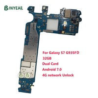 BINYEAE Replacement For Samsung Galaxy S7 Edge G935FD Unlocked Main Motherboard 32GB Dual Duos Card Unlock