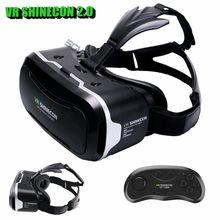 Shinecon VR 2.0แว่นตา3Dเสมือนจริงชุดหูฟังที่สมจริงหมวกกันน็อคvrกล่องหัวหน้าภูเขาสำหรับ4.5 '-6.0'โทรศัพท์+ควบคุมระยะไกล