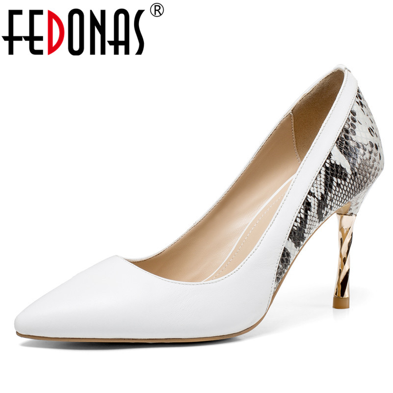 FEDONAS 2019 Fashion Brand Women Pumps Thin Heels Prom Party Shoes Woman Slip-On Sexy Pointed Toe Office Pumps New Women Shoes fletite top quality elegant embroidery 8 color women pumps pointed toe thin high heels 2018 new fashion luxury women shoes brand