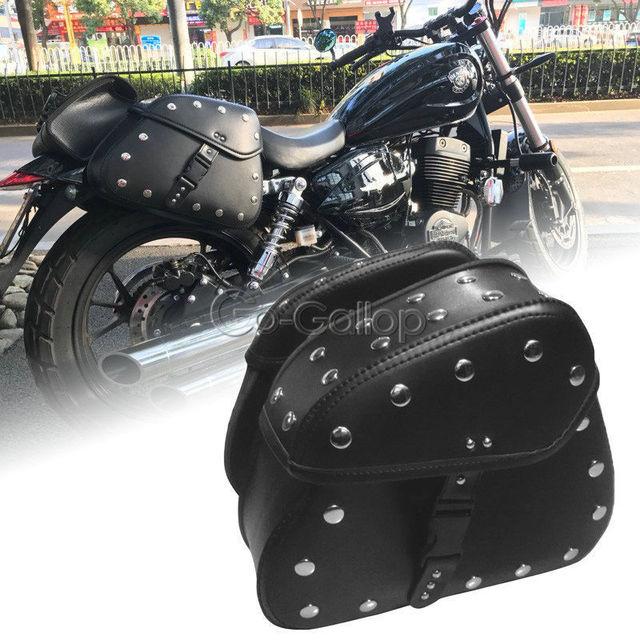 Black Saddlebags Side Storage For Honda Shadow Spirit Aero Vt Vlx
