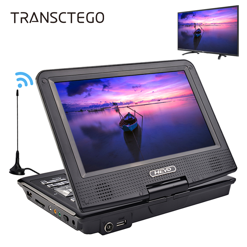 TRANSCTEGO DVD Player Car TV 9.8 inch players LCD Screen Support TV Game DVD VCD CD MP3 MPEG4 Radio with Gamepad TV Antenna DVB 1563u 1 din 12v car radio audio stereo mp3 players cd player support usb sd mp3 player aux dvd vcd cd player with remote control