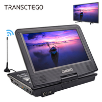 TRANSCTEGO DVD Player Car TV 9 8 Inch Players LCD Screen Support TV Game MPEG DVD