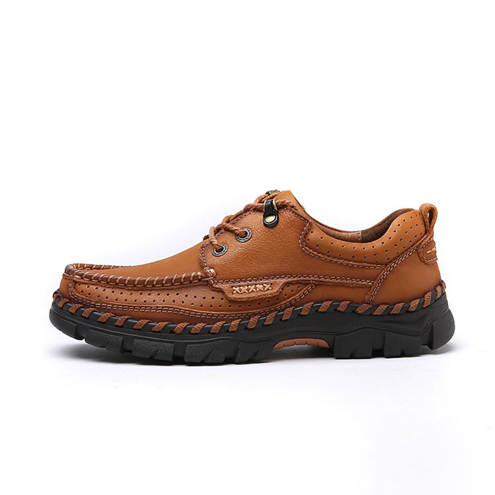 brown 38 Outdoorsr khaki Véritable Mode Cuir À La 44 Décontractées Chaussures Main Homme Black Hommes En Haute Qualité byYfg76