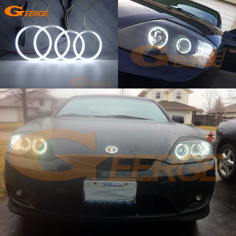 For Hyundai Tiburon 2003 2004 2005 2006 Excellent angel eyes Ultra bright illumination CCFL Angel Eyes kit Halo Ring for alfa romeo 147 2000 2001 2002 2003 2004 halogen headlight excellent ultra bright illumination ccfl angel eyes kit halo ring