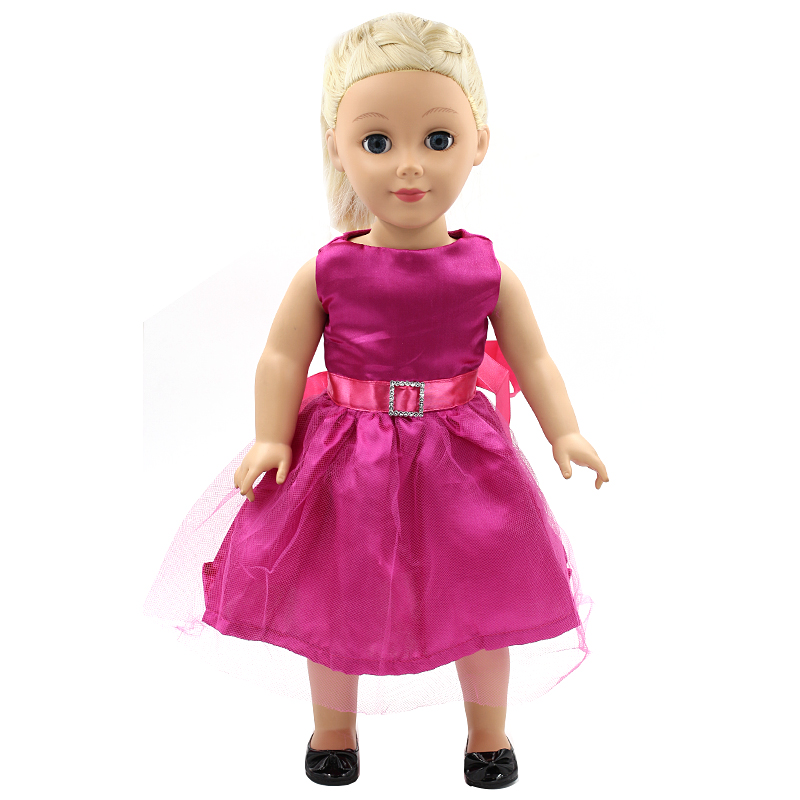 15 styles Princess Dress Doll Clothes fit 43cm Baby Born Doll Elegant Pink Dress and Accessories for kids MG116