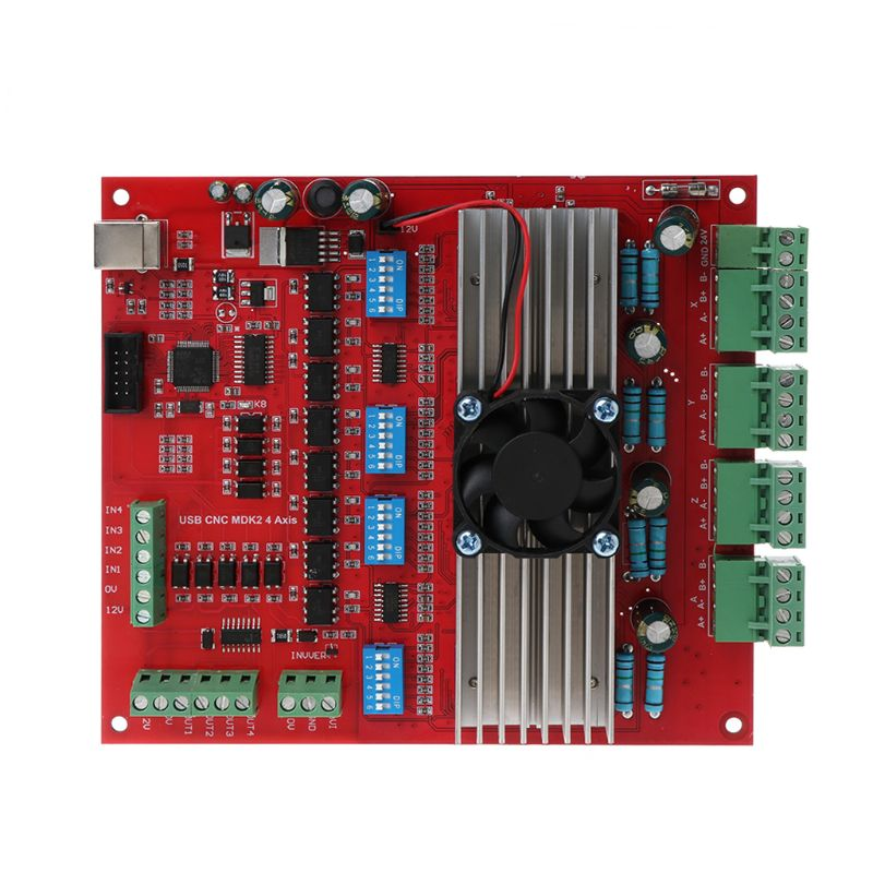 MACH3 CNC USB 100Khz Breakout Board 4 Axis Interface Driver Motion ControllerMACH3 CNC USB 100Khz Breakout Board 4 Axis Interface Driver Motion Controller