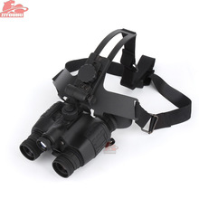 ZIYOUHU Infrared Night Vision Binoculars HD Green Imaging Helmet Type Goggles for Outdoor Hunting 1x26 Compact and Durable
