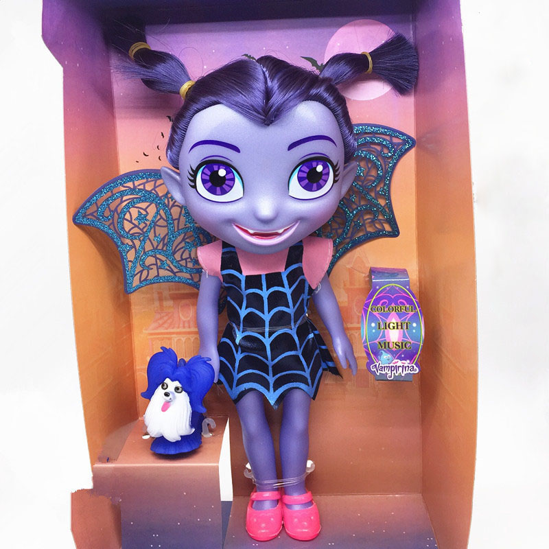 33cm Vampirina The Vamp Bat Girl Doll with Light Music Action Figure Toy Doll Toy Gift for Children the girl with the wrong name