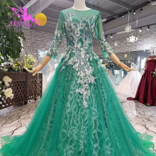 AIJINGYU Tail With Sleeves Best Garden Gown Wedding Dresses