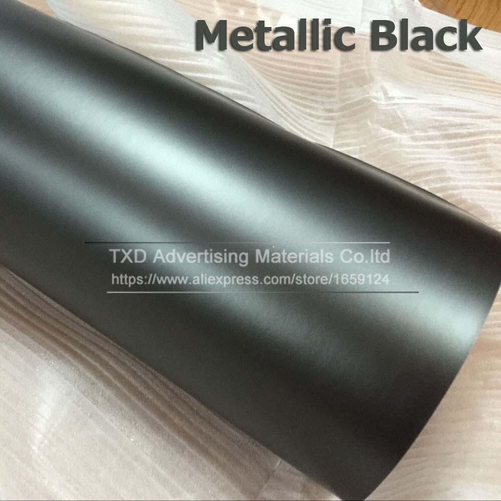 Синий Матовый Металлик Виниловая пленка для автомобиля с воздушными пузырьками хромированная матовая виниловая пленка синяя матовая пленка для автомобиля - Название цвета: black