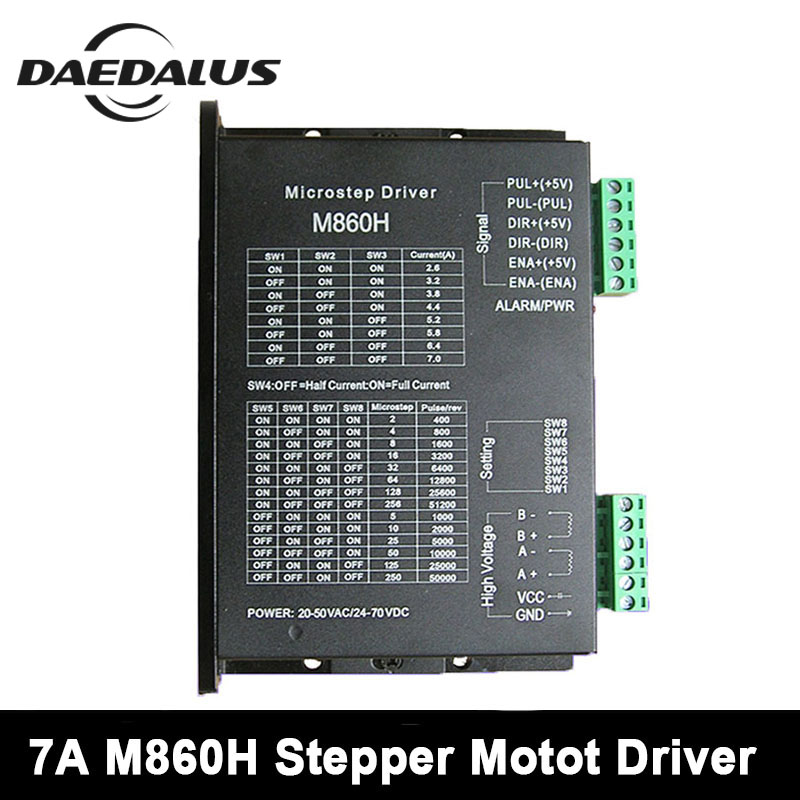 7A 24V 70V Universal Stepper Motor Driver Subdivision 57 86 Universal M860H Two Phase For CNC