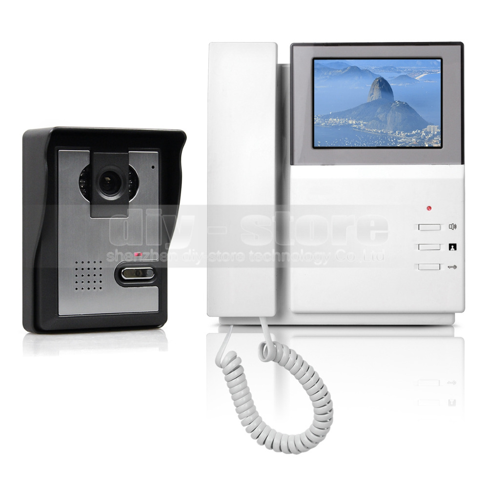 DIYSECUR 4.3inch Video Intercom Video Door Phone Doorbell 1 Camera 1 Monitor For Home / Office Security System