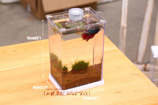 Small Fish Tank Tropical Betta Fish Mini Nano Arcylic Tank