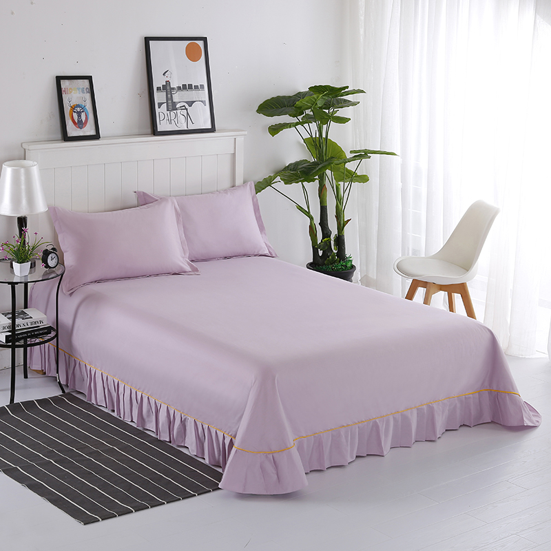 3 Pieces Of 100% Cotton Fashion Home Life Comfortable Breathable Home Three-Piece Warm And Healthy Bed Sheets + Pillowcases